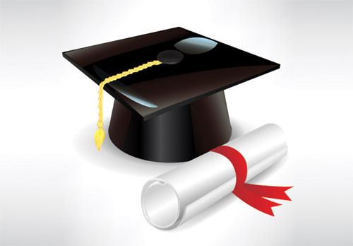 Graduation cap and diploma 2 | Free Vector Graphic Download - ClipArt ...