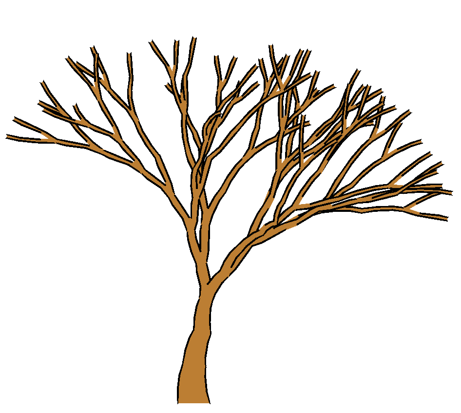 bare fall tree clip art - photo #29