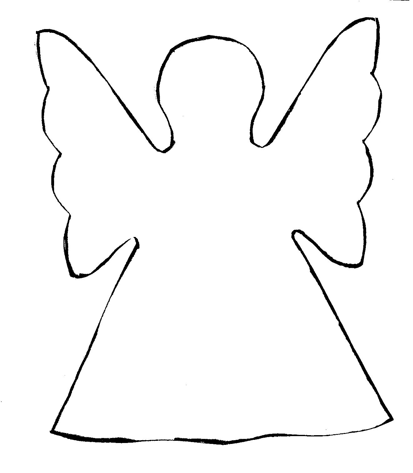 angel wing cut out template - photo #31