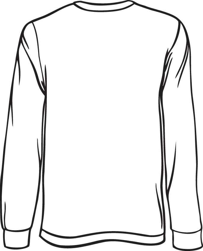 T Shirt Design Line Art : T shirt line drawing clipart best