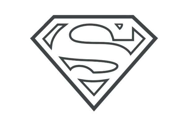 Black And White Superman Logo - ClipArt Best