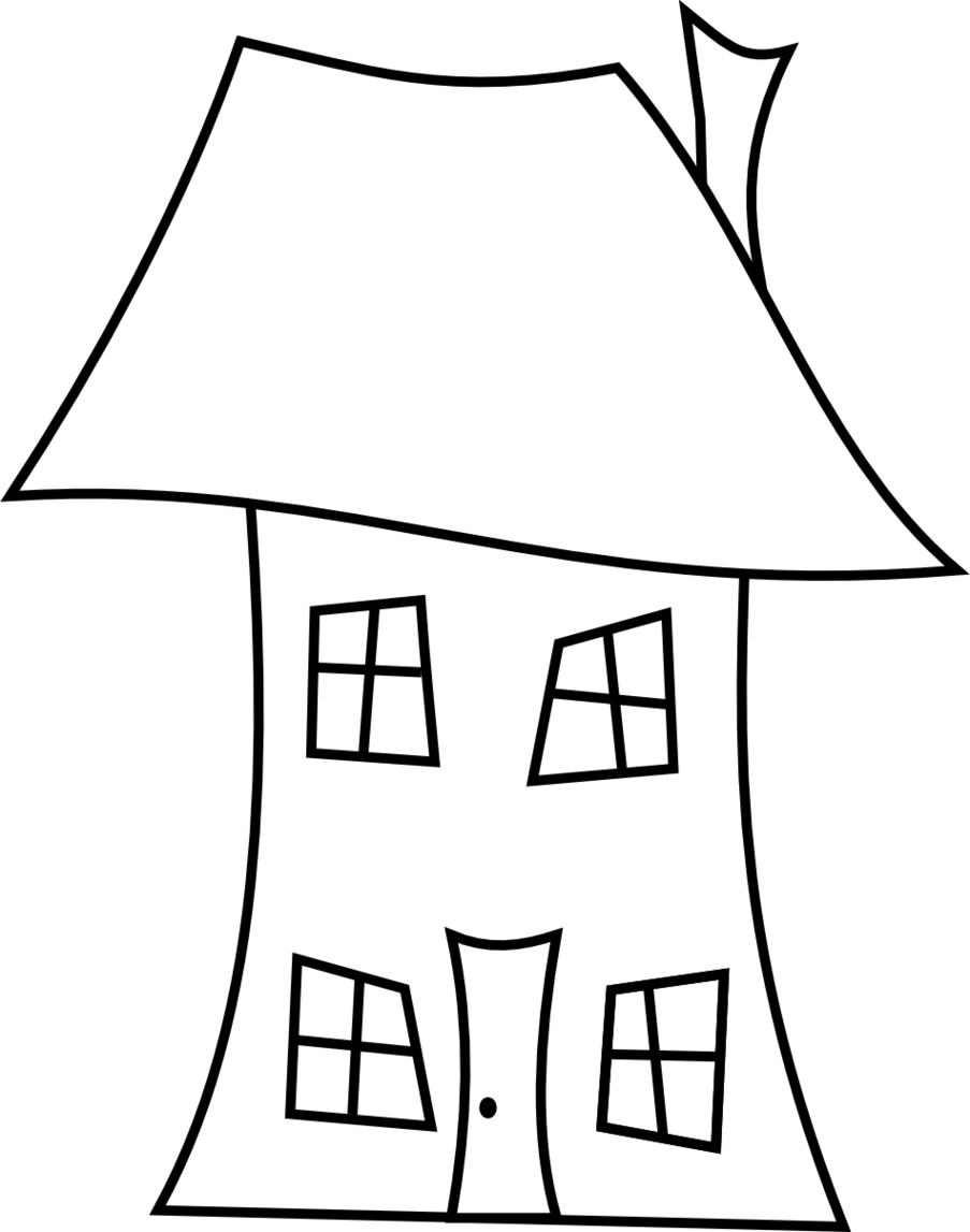 Line Drawing Of Your House : House line drawing clipart best