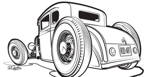 32 ford roadster coloring pages coloring pages