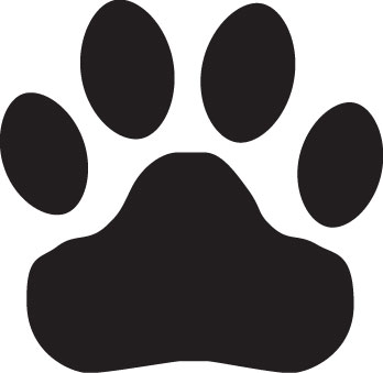 Tiger Paw Print Clipart