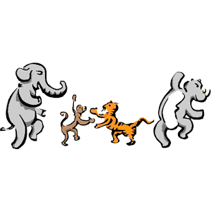 Free clipart dancing animal