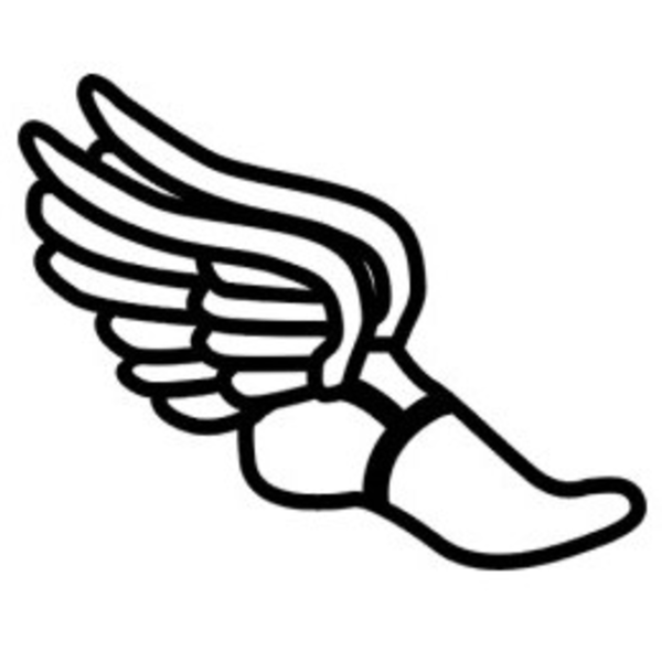 Running shoes with wings clipart