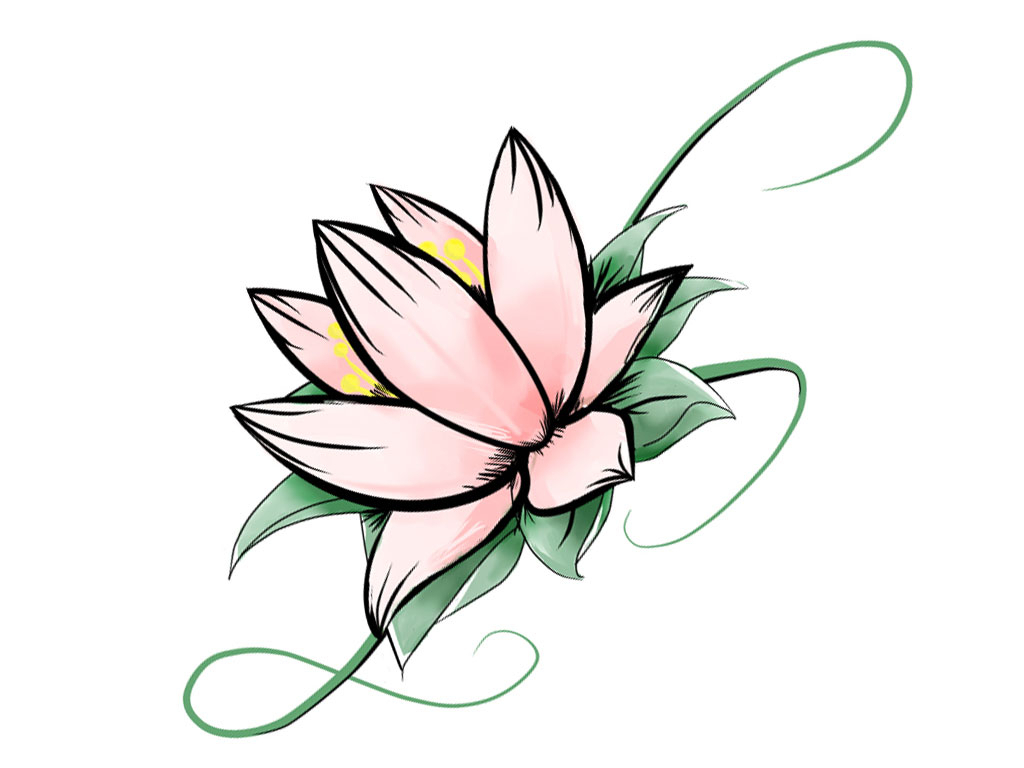 Simple Lotus Flower Drawing ClipArt Best