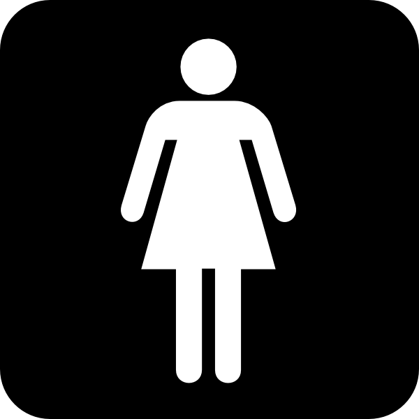 Ladies bathroom sign clipart best for Bathroom photos of ladies
