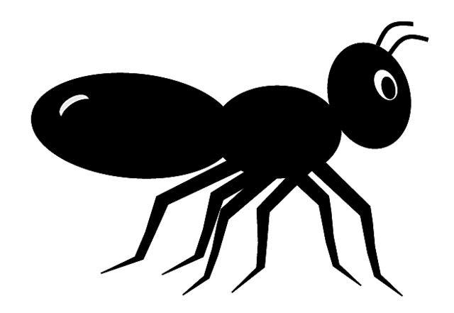 Black Ants in a Line Ant Clipart Black And