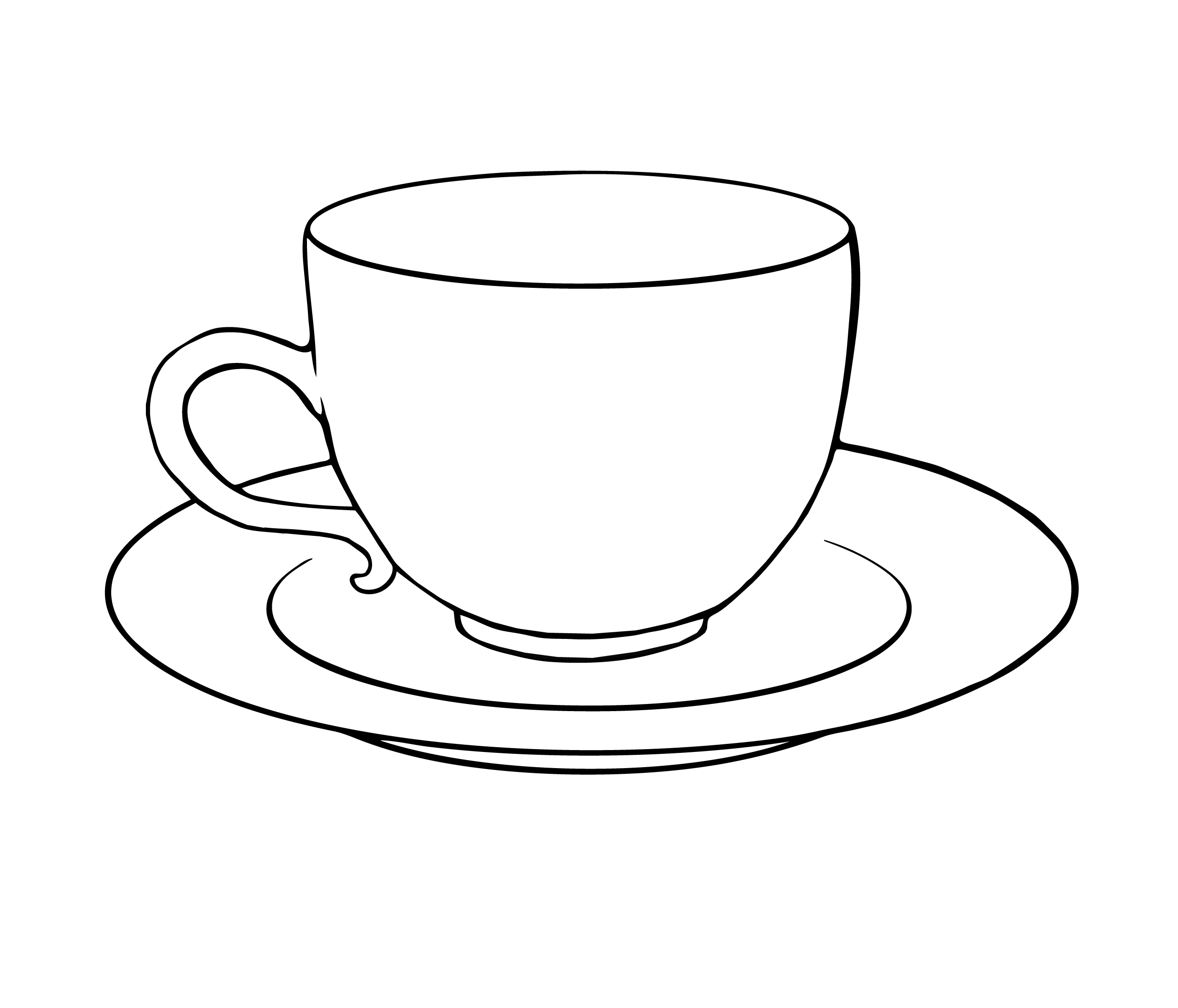 Tea cup colouring page clipart best for Cup picture for colouring