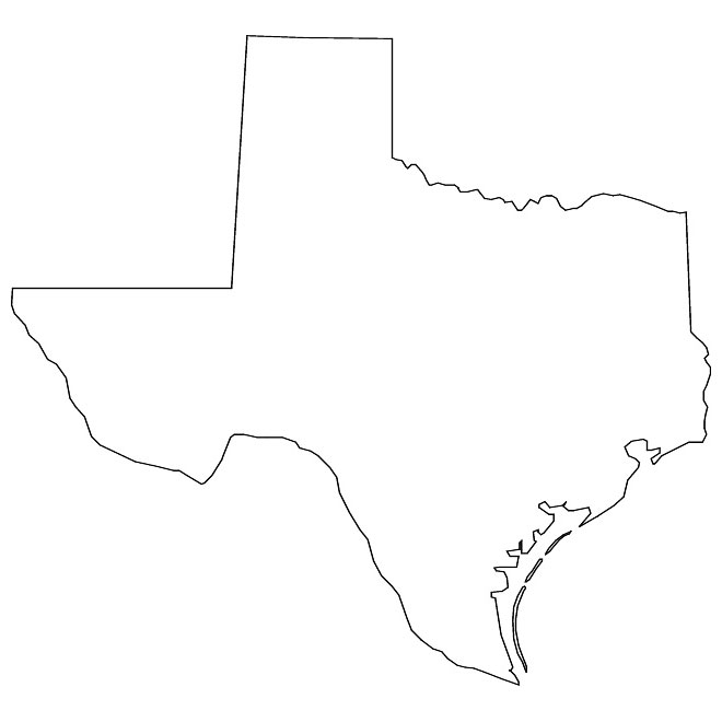 clipart map of texas - photo #14