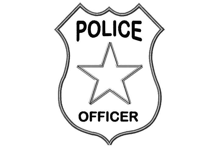 Police badge coloring clipart best for Police badge template for preschool
