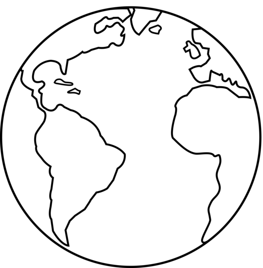 Earth Clipart Black And White