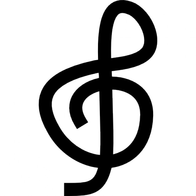 Treble clef, IOS 7 interface symbol Icons | Free Download