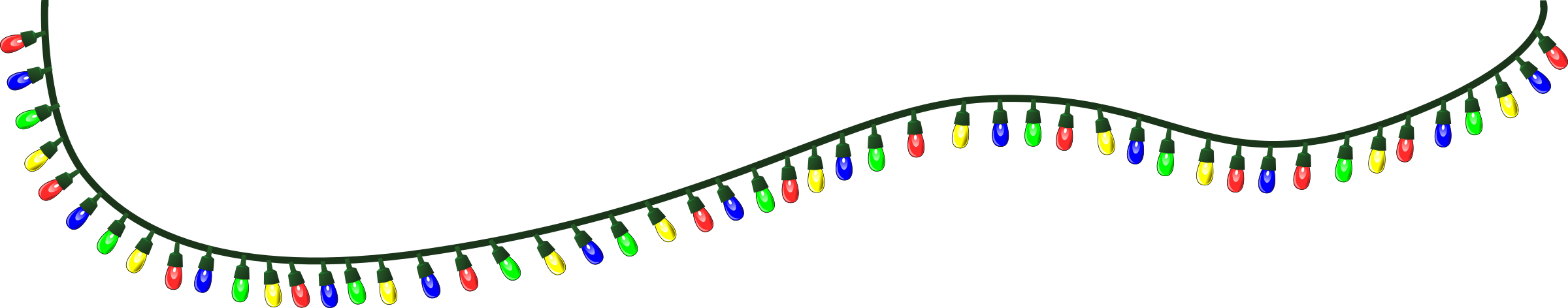 Clipart - Christmas Lights