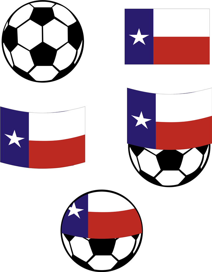 Soccer Ball with Texas Flag - CorelDRAW.