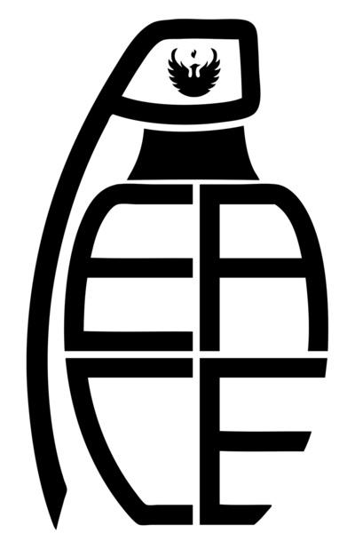 peace grenade typography print art print by jon hernandez