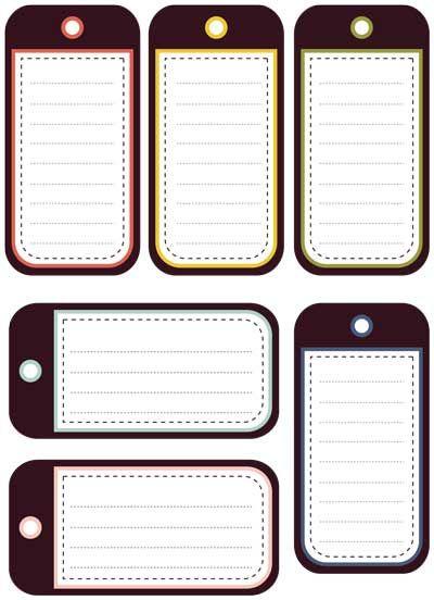printable tags template