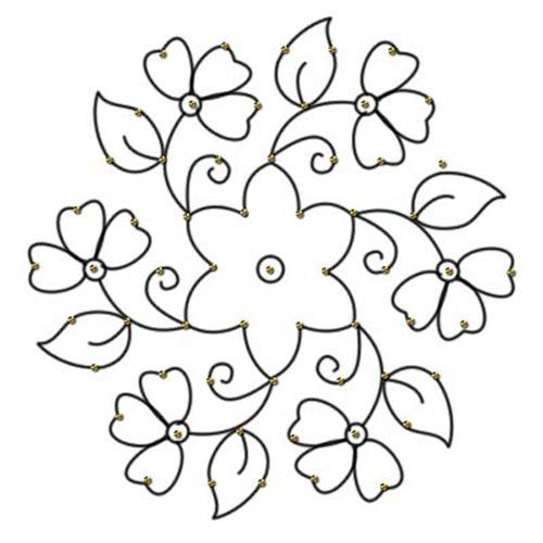 Simple Flower Patterns To Trace - ClipArt Best