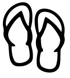 Flip Flops Black And White Clipart - ClipArt Best