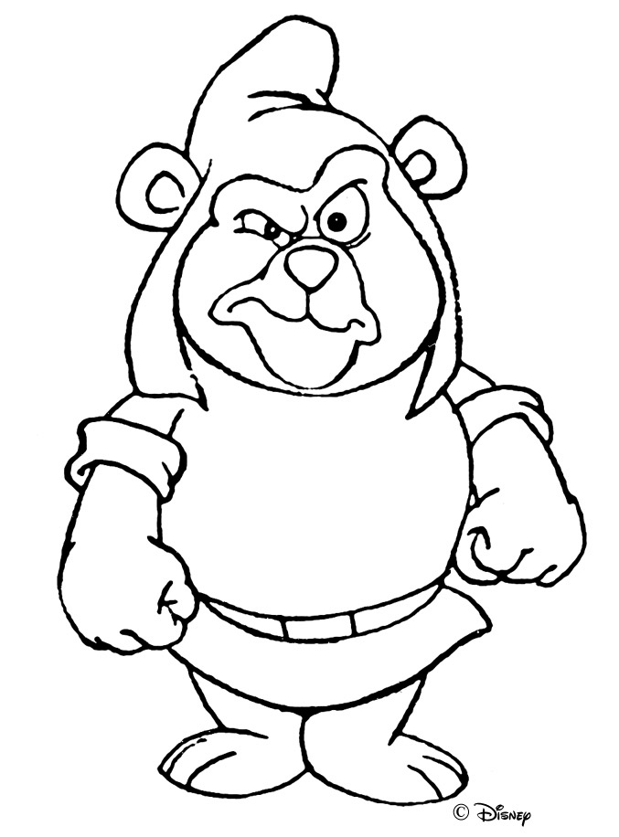 Gummi bears coloring pages clipart best for Coloring pages of gummy bears