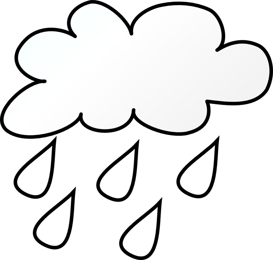 Weather symbols coloring pages