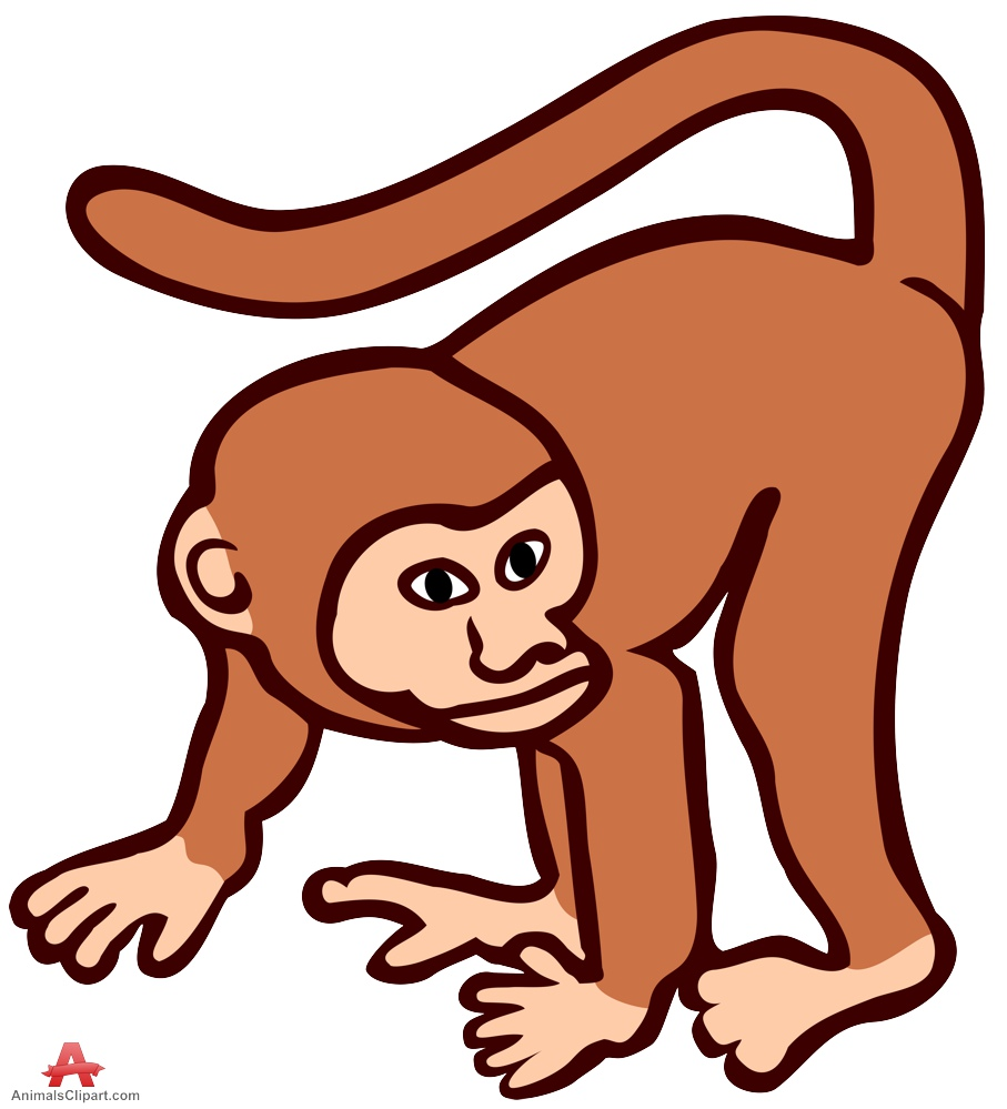Outline Picture Of A Monkey ClipArt Best