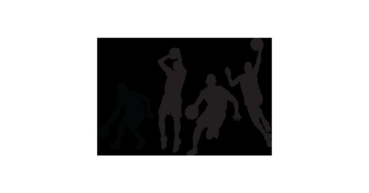 Basketball player silhouette logo