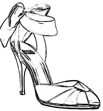 High Heel Coloring Page ClipArt