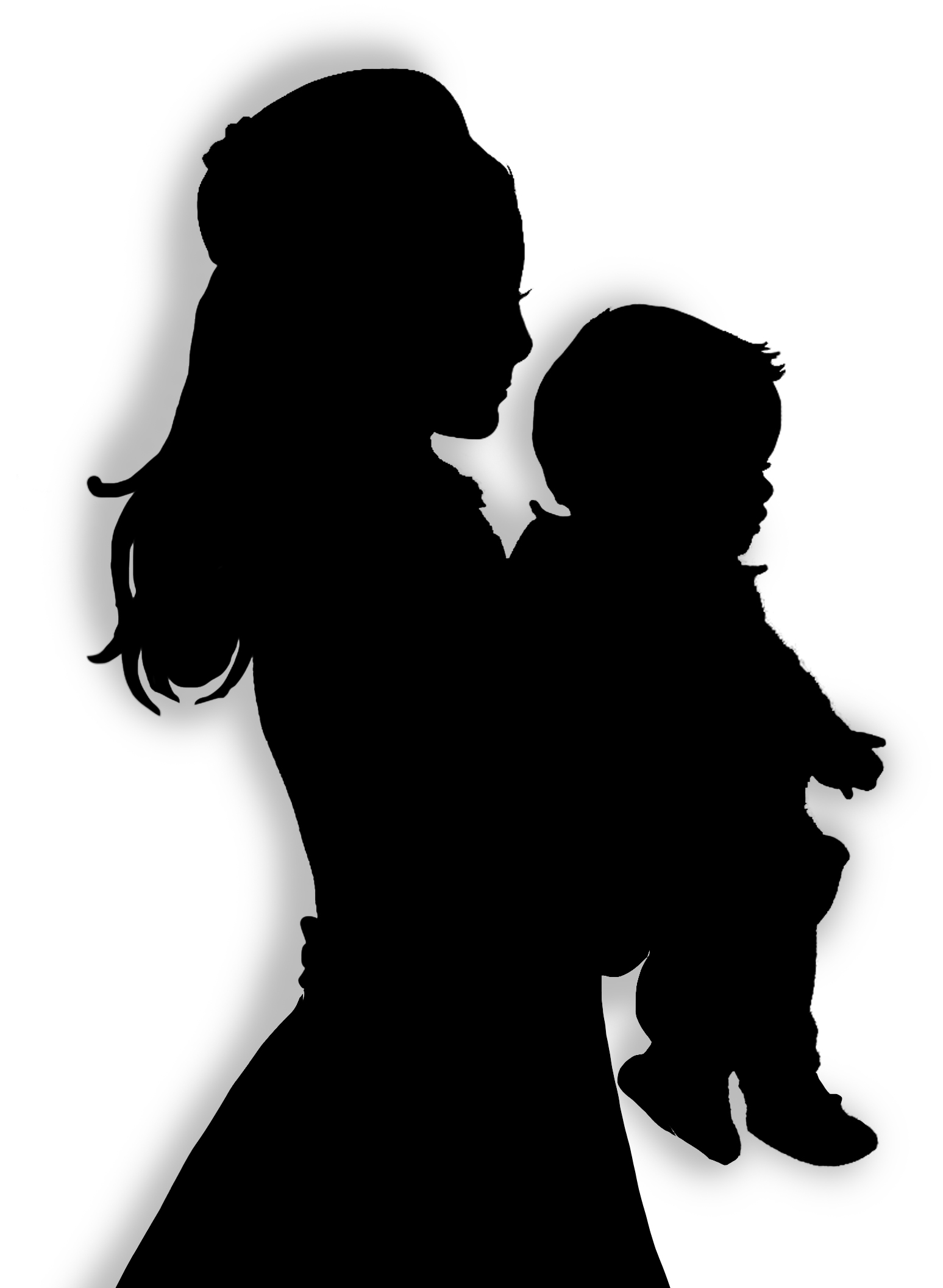 mother baby silhouette clipart best