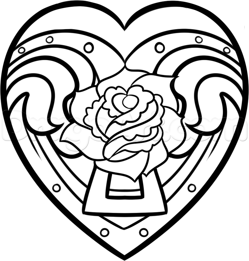 Drawings Of Hearts And Roses - ClipArt Best
