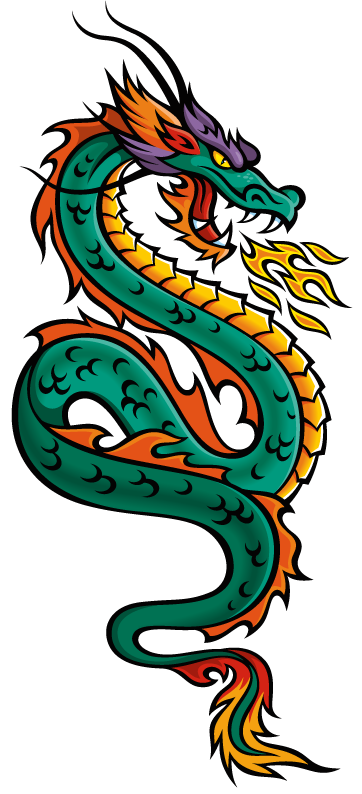Japanese Dragon Of Love - ClipArt Best