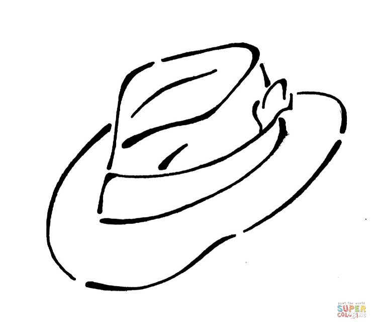 free sombrero coloring pages - photo#20
