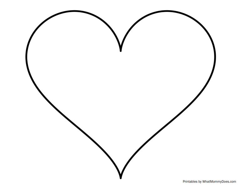 clip art heart template - photo #32