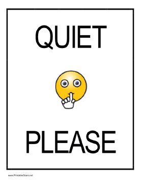 Shhh Quiet Please Sign - ClipArt Best