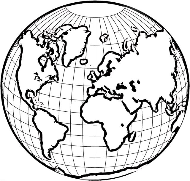 Line Art Earth : Globe line drawing clipart best