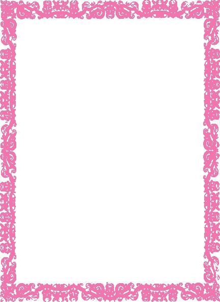 Pink Border Wedding - ClipArt Best