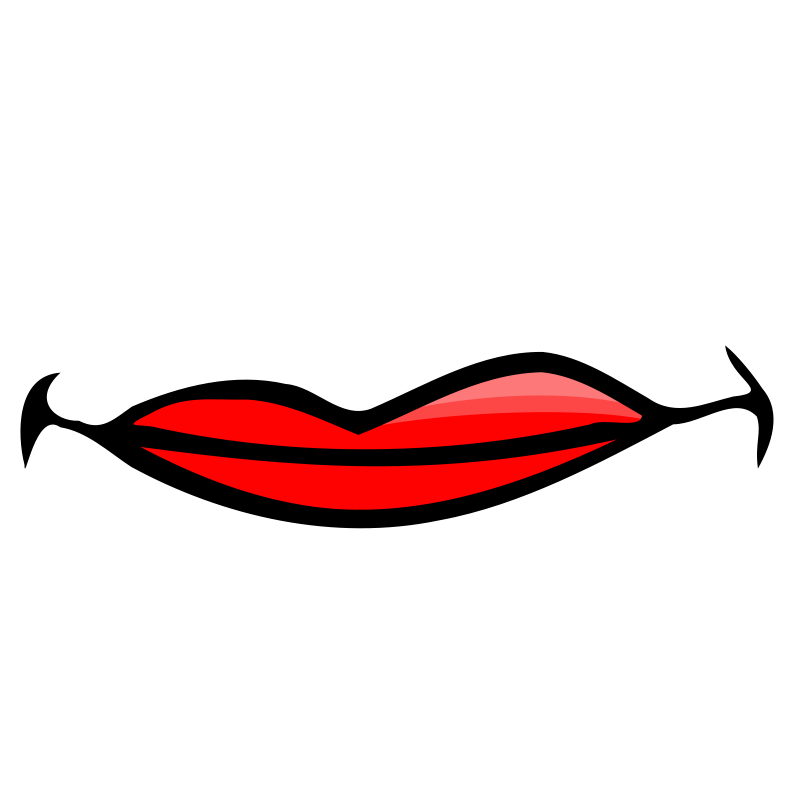 Clipart - Smiling mouth Smiling
