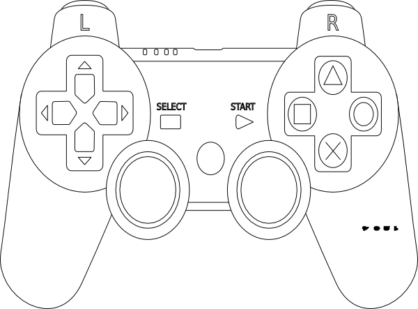 Xbox 360 Printable Coloring Pages : Free xbox controller coloring pages