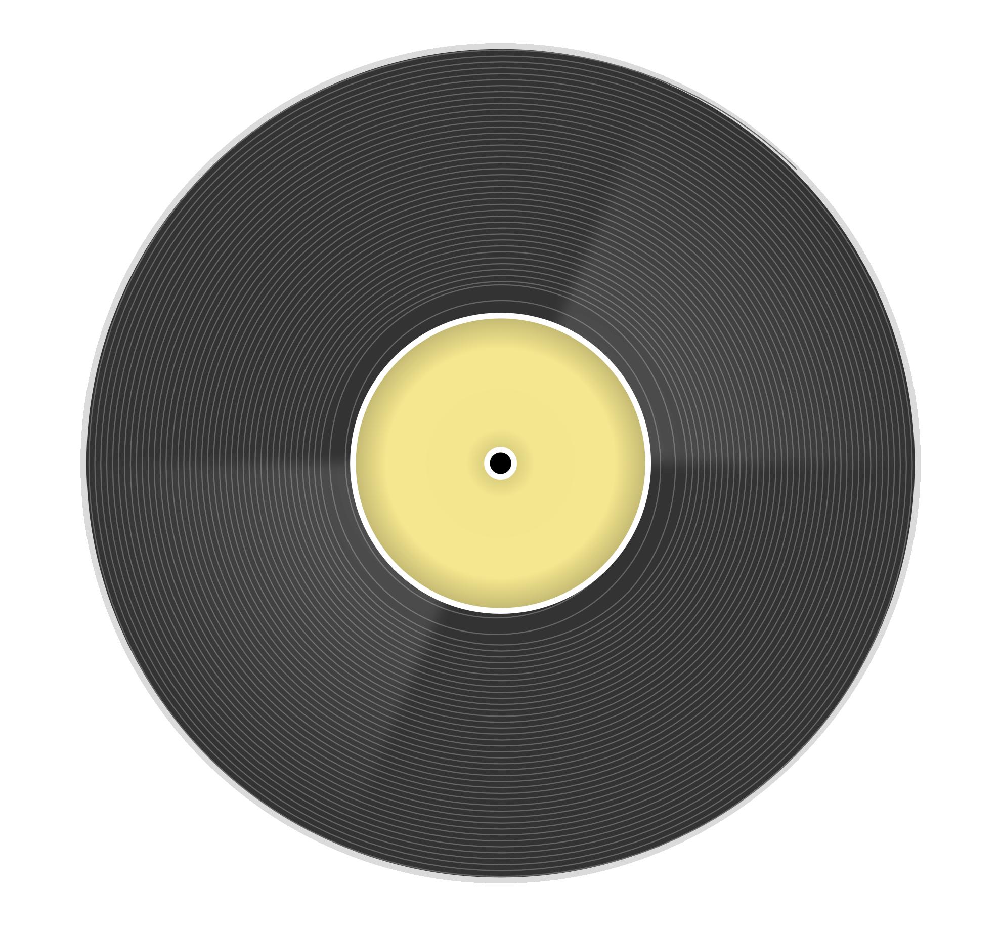 Clip Art: long play vinyl disc record clipartist ...