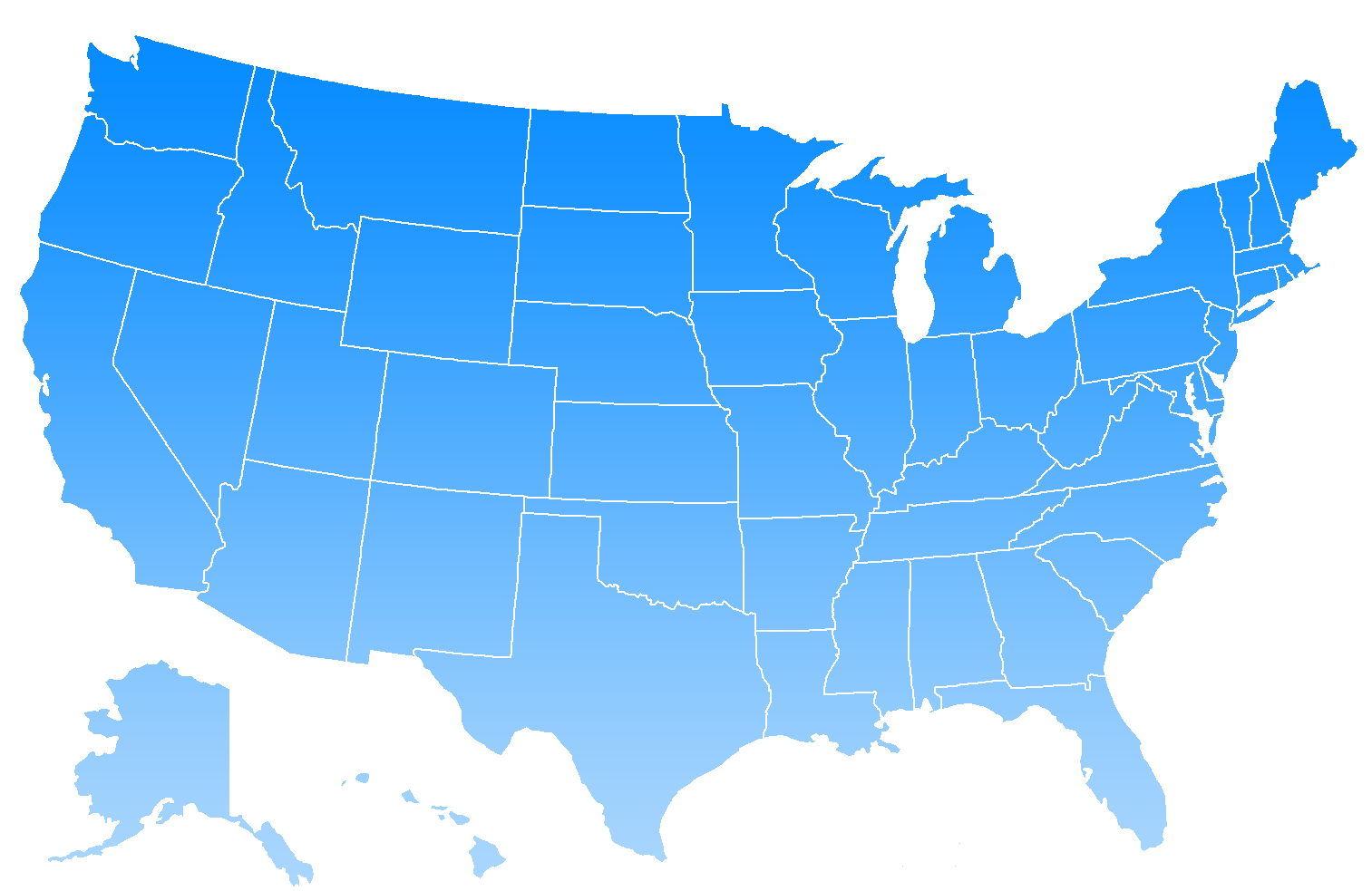 Printable Blank Us Map With State Outlines - ClipArt Best