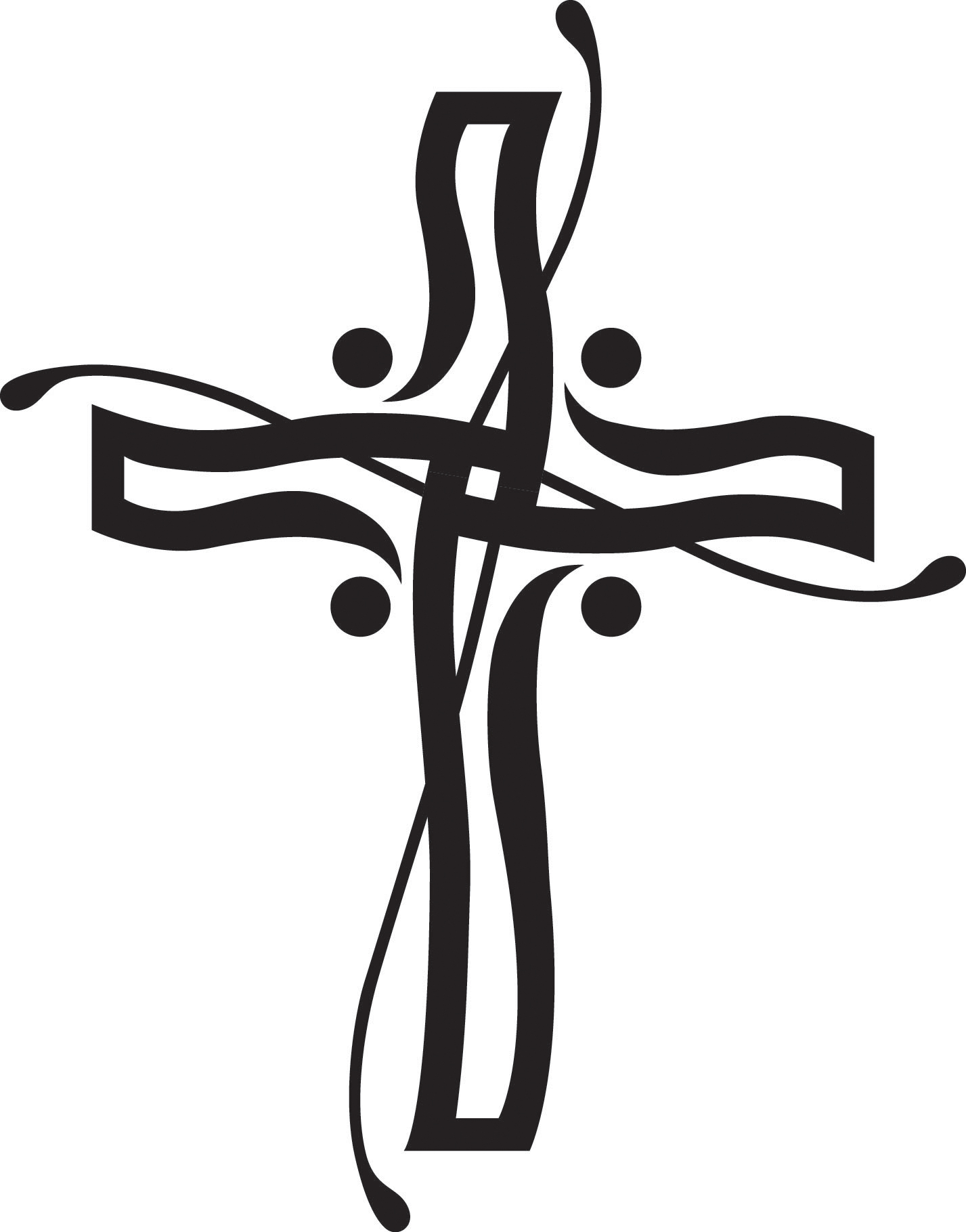 christian clipart free black and white - photo #10