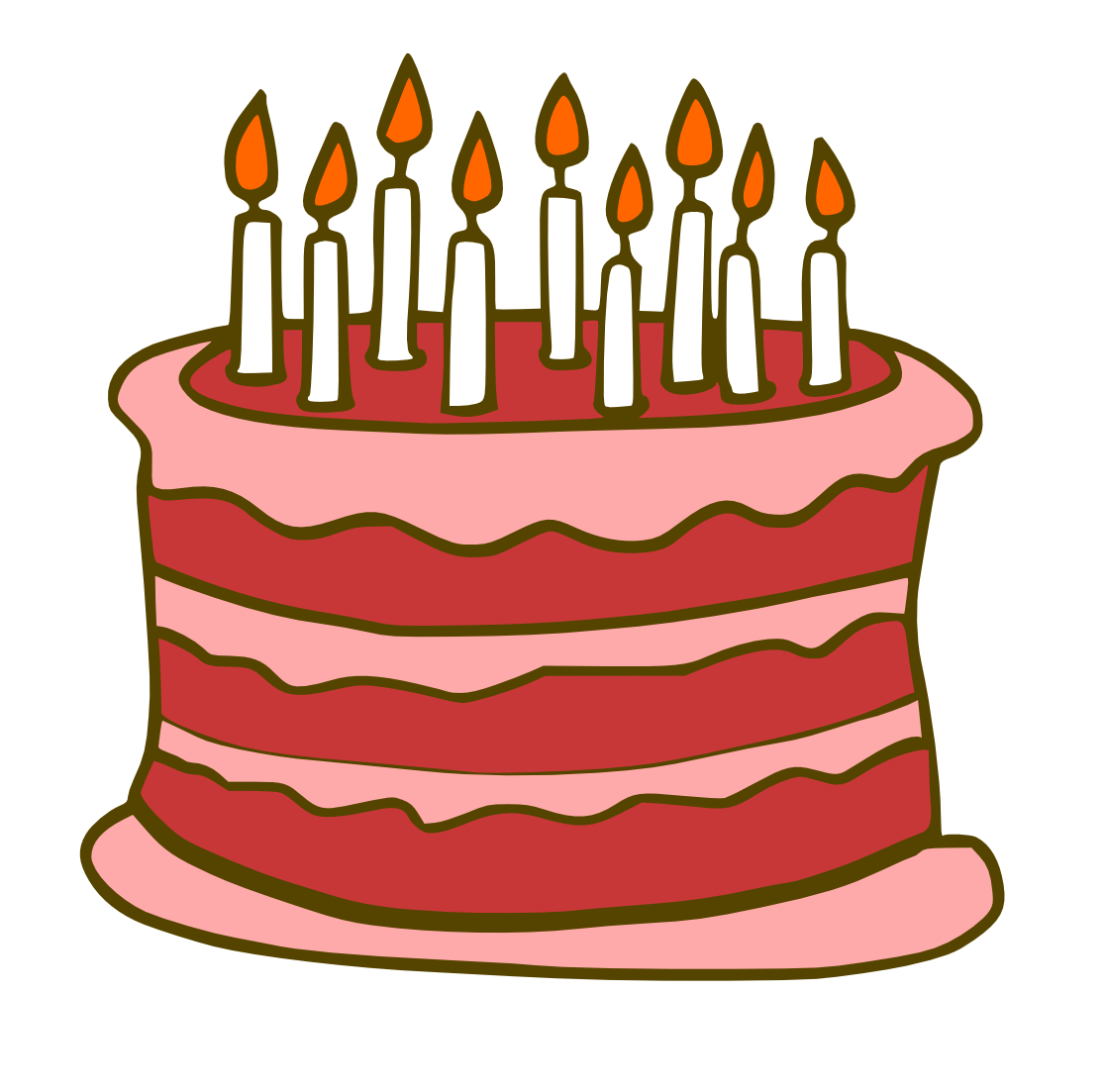 Cartoon Pics Of Birthday Cakes : Birthday Cake Graphic - ClipArt Best