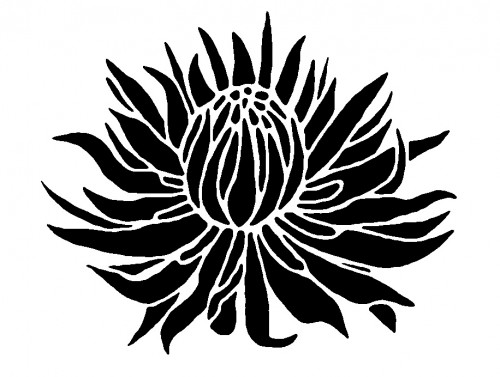 Flower Stencil - ClipArt Best