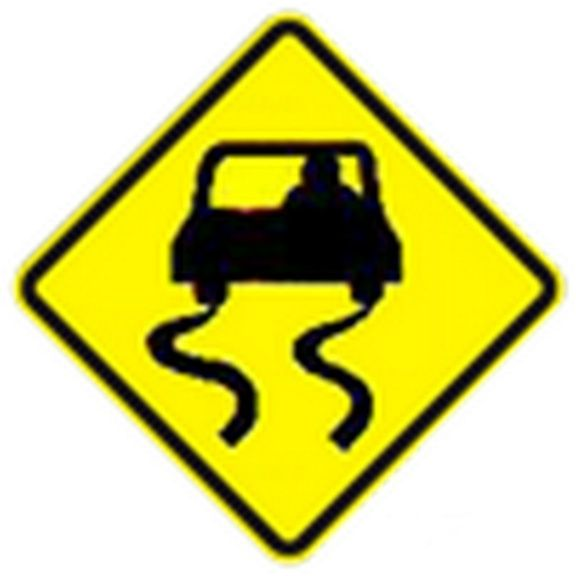 slippery road sign   clipart best