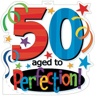 50th Birthday Clip Art Text only, representing 50th