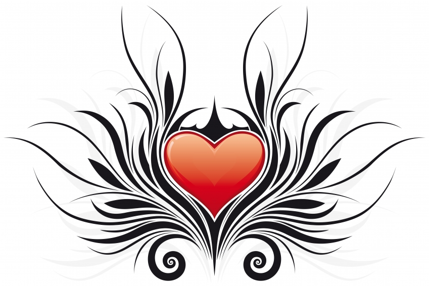 Tribal Heart With Banner heart tattoo - ...