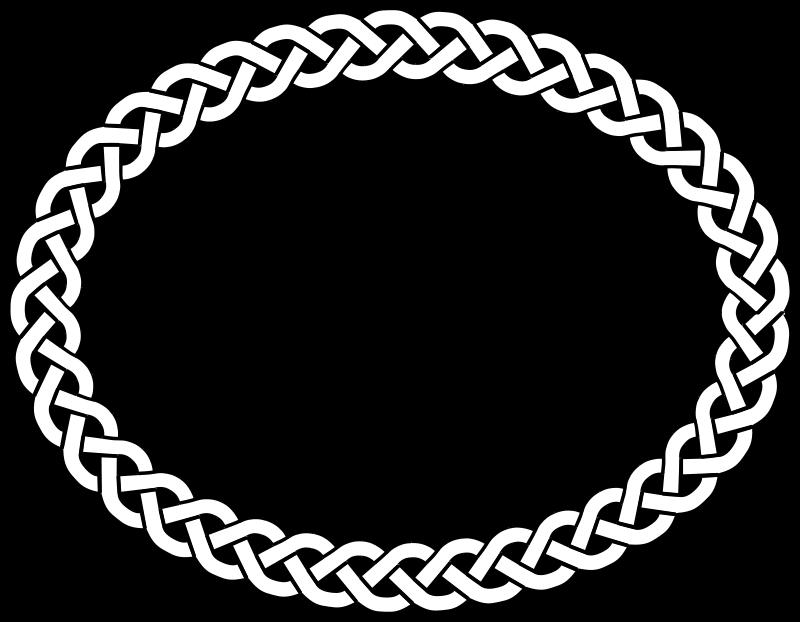 Music clip art bordersOval Celtic Knot Border
