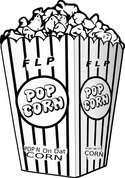 Popcorn Kernel Outline Clip Art Flp Popcorn Clip Art Vector