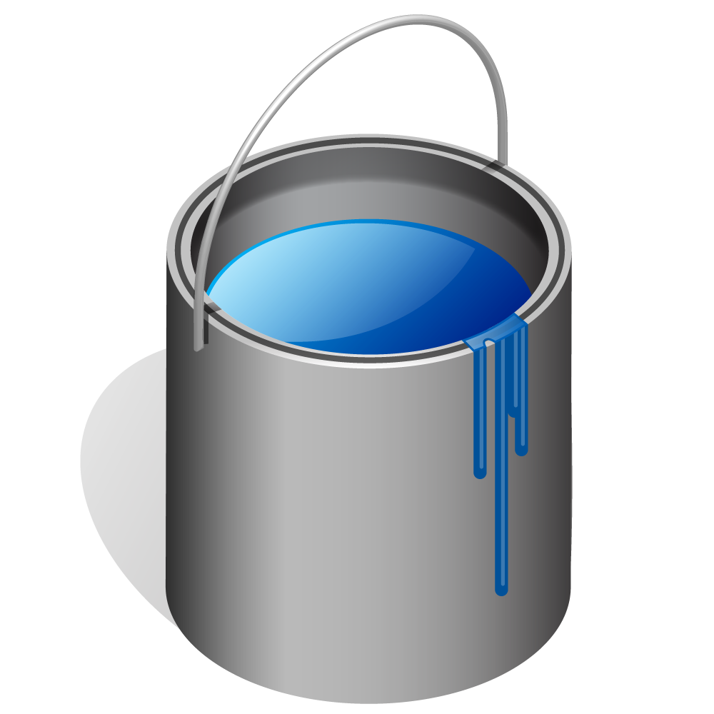 Blue Paint Bucket Vector